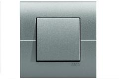 Systo interruptor simples cor alumínio